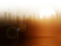 Sonnenaufgang in der Stadt Lizenzfreies Stockbild