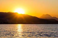 Sonnenaufgang in der Türkei Lizenzfreies Stockbild