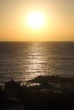 Sonnenaufgang des Roten Meers in Dahab von Ägypten Stockbilder