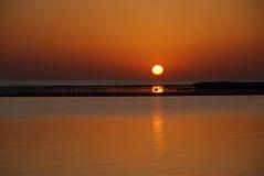 Sonnenaufgang am Feiertag Lizenzfreies Stockfoto
