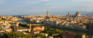 Sonnenaufgang in Florenz Lizenzfreies Stockfoto