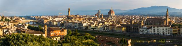 Sonnenaufgang in Florenz Lizenzfreie Stockbilder