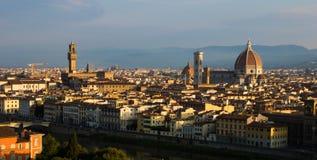 Sonnenaufgang in Florenz Stockfoto