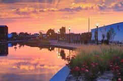 Sonnenaufgang Frederick Maryland Lizenzfreie Stockbilder
