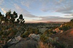 Sonnenaufgang Galisteo Mew Mexiko Stockfotos