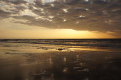 Sonnenaufgang-Glühen bei Hilton Head lizenzfreie stockbilder