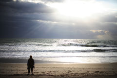 Sonnenaufgang-Glaube stockfotografie