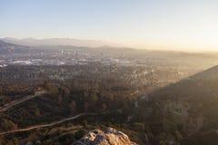Sonnenaufgang Glendales Kalifornien Stockfotos