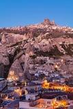 Sonnenaufgang in Goreme-Stadt, die Türkei stockfotos