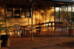Sonnenaufgang, Gregory Hotel, Gregory, Queensland, Australien Stockfotografie