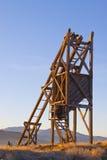 Sonnenaufgang-Gruben-Antriebswelle lizenzfreie stockfotografie