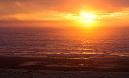 Sonnenaufgang am Hafen Alfred Stockfotos