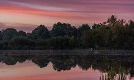 Sonnenaufgang in Hannover lizenzfreies stockbild