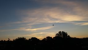 Sonnenaufgang heute morgen Stockbild