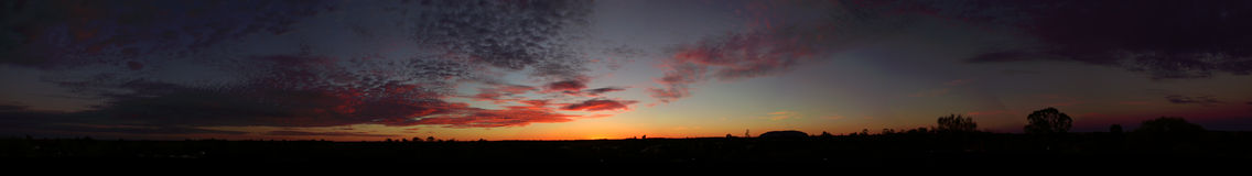Sonnenaufgang-Hinterland Lizenzfreies Stockfoto