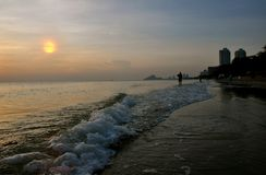 Sonnenaufgang in Huahin Lizenzfreies Stockbild