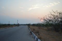 Sonnenaufgang Hyderabad, Indien stockbilder