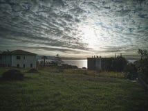 Sonnenaufgang in IÄ- iÄ ‡ I, Kroatien lizenzfreies stockbild