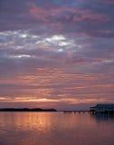 Sonnenaufgang im Eichen-Hügel Florida Stockfotografie