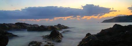 Sonnenaufgang im forster Stockfotografie