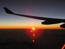 Sonnenaufgang im Himmel Lizenzfreie Stockfotos