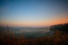 Sonnenaufgang im Himmel Stockbild