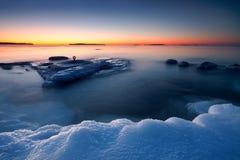 Sonnenaufgang im kalten Morgen stockfotografie