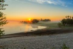 Sonnenaufgang im Nebel Stockfoto