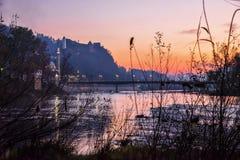 Sonnenaufgang im November, Bosnien und Herzegowina lizenzfreies stockfoto