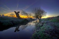 Sonnenaufgang im Park Lizenzfreies Stockfoto