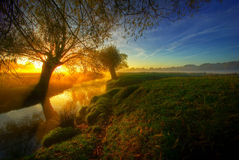 Sonnenaufgang im park7 Lizenzfreies Stockfoto