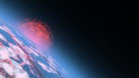 Sonnenaufgang im Platz vektor abbildung