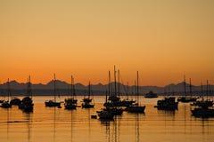Sonnenaufgang im PortTownsend Schacht stockbild