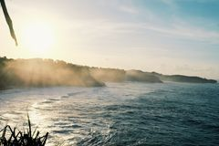 Sonnenaufgang im Strand Lizenzfreies Stockbild