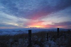 Sonnenaufgang im Winter Lizenzfreie Stockbilder