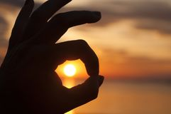 Sonnenaufgang ist OKAY Stockfotos