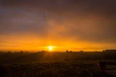 Sonnenaufgang in Italien Stockfoto