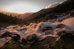 Sonnenaufgang in Kaschmir stockbilder