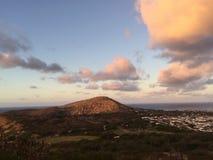 Sonnenaufgang am Koko-Kopfkrater lizenzfreies stockbild
