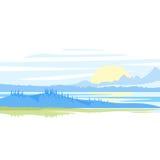 Sonnenaufgang-Landschaft Stockfoto