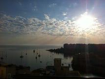 Sonnenaufgang in Malta Lizenzfreies Stockbild