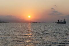 Sonnenaufgang Marmara-Meer stockfotos