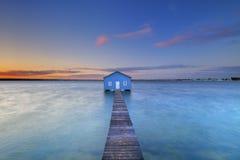 Sonnenaufgang an Matilda Bay-Bootshaus in Perth, Australien Lizenzfreies Stockbild