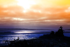 Sonnenaufgang in Meer Stockbild