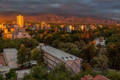 Sonnenaufgang Mendoza Argentinien Lizenzfreies Stockfoto