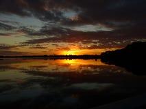 Sonnenaufgang mit dem Sturmnähern lizenzfreies stockbild
