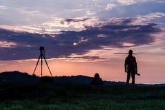 Sonnenaufgang mit der Gruppe Lizenzfreies Stockfoto