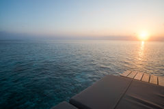 Sonnenaufgang mit Seeansicht Stockfoto