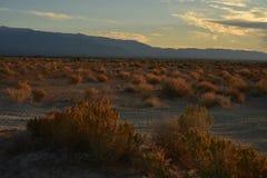Sonnenaufgang Mojavewüste Nevada-Stadt von Pahrump Lizenzfreie Stockbilder