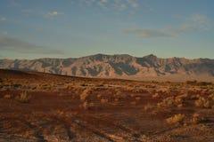 Sonnenaufgang Mojavewüste Nevada-Stadt von Pahrump Lizenzfreie Stockfotos